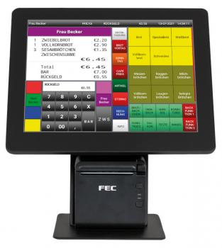 Touch-Kassensystem FEC KC-PP1125W-KC
