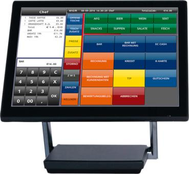 Touch-Kassensystem FEC KC-XP3125W